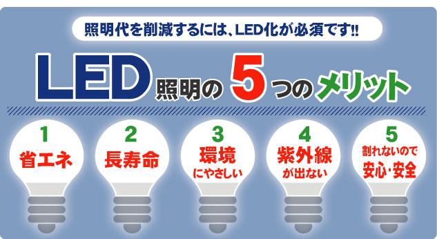 LED照明の5つのメリット