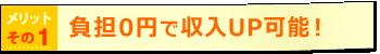 負担0円で収入UP可能!
